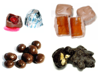 sugar free chocolates that contain nuts, cherries, orange etc