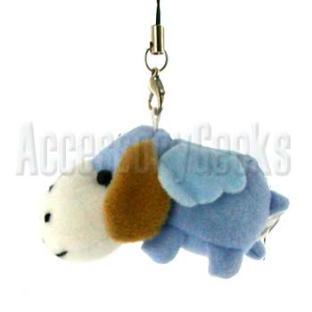 Charm-  Scented Baby Blue Dog with Wings Cell Phone Charm, Strap