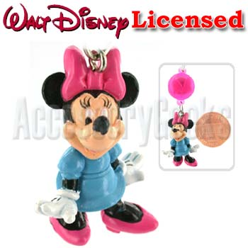 Charms -  Disney Licensed Minnie Mouse a Pink Bow Flashing Strap / Charm